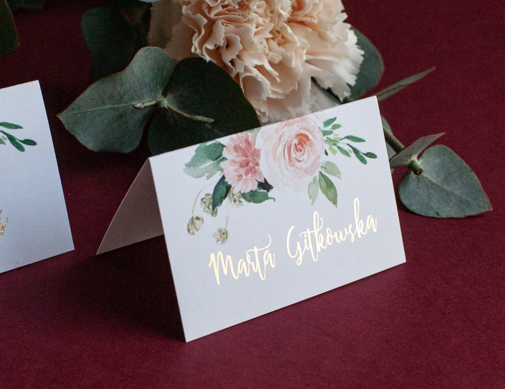 Bright flowers - winietki ślubne