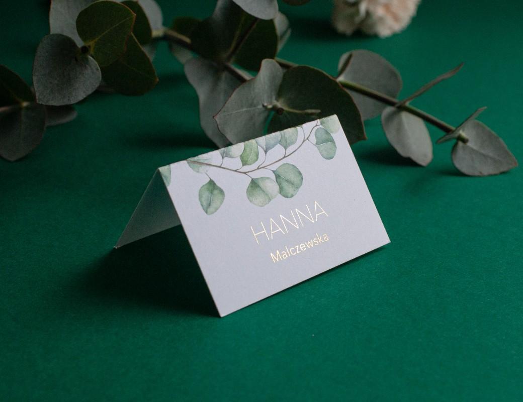 Eucalyptus - winietki ślubne