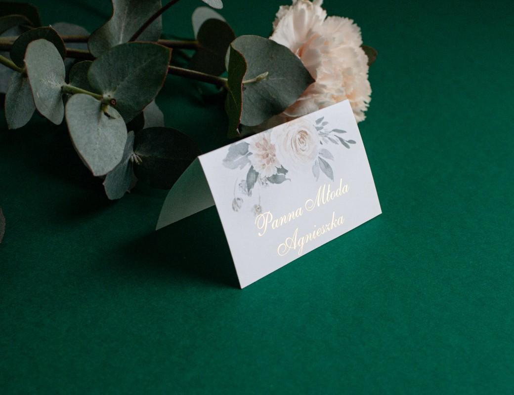 Fade flowers - winietki ślubne