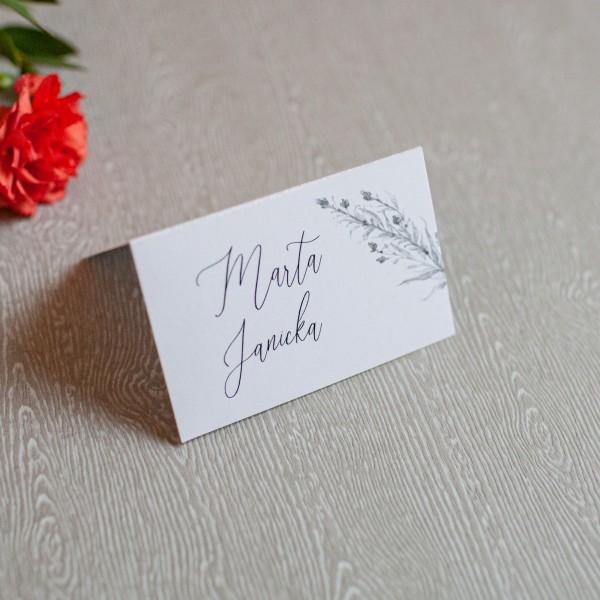 Grey - winietki ślubne