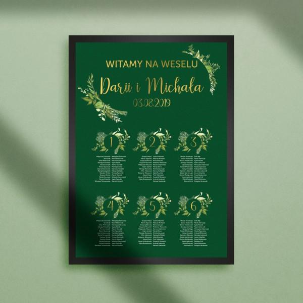 Wild Green 2 - Plan stołów