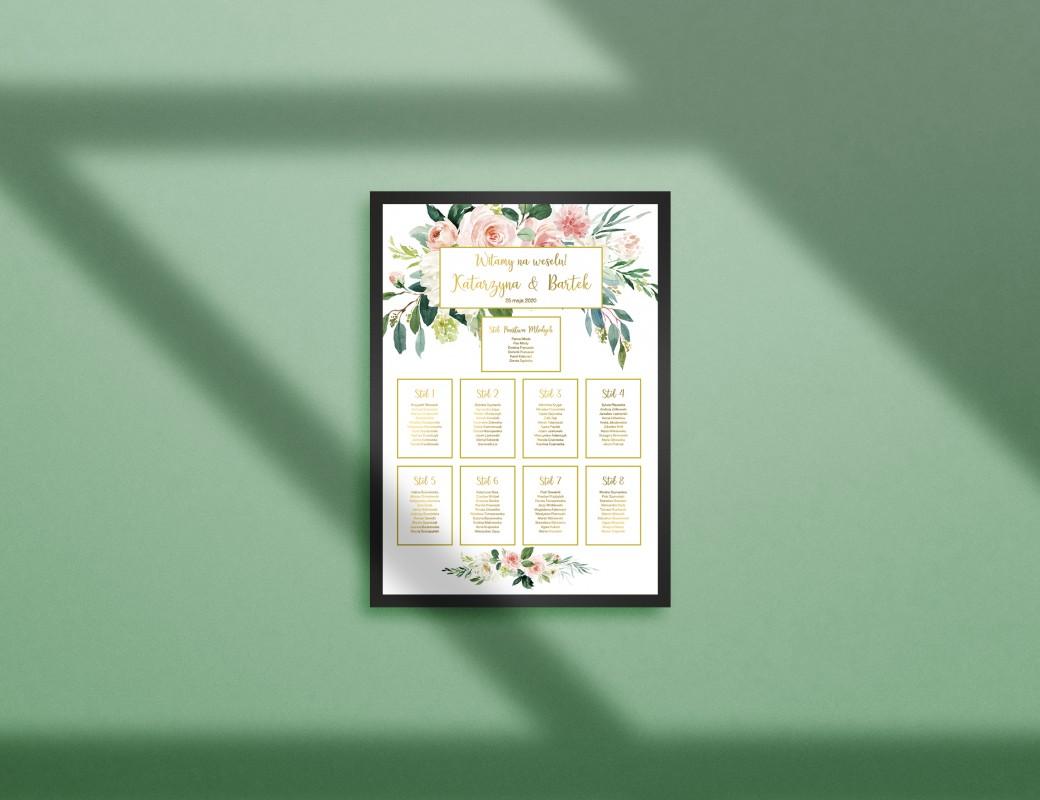 Bright Flowers - Plan stołów
