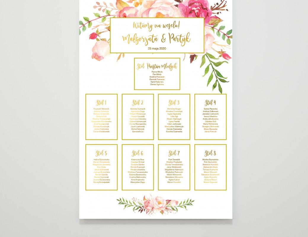 Romantic&Gold - Plan stołów