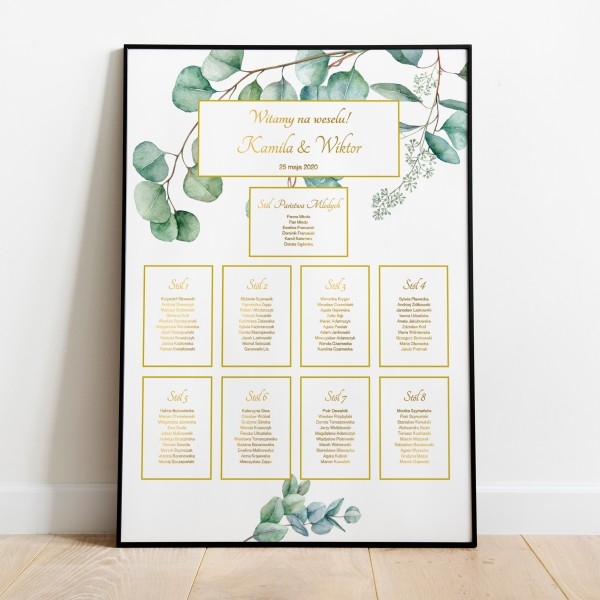 Eucalyptus&Gold - Plan stołów