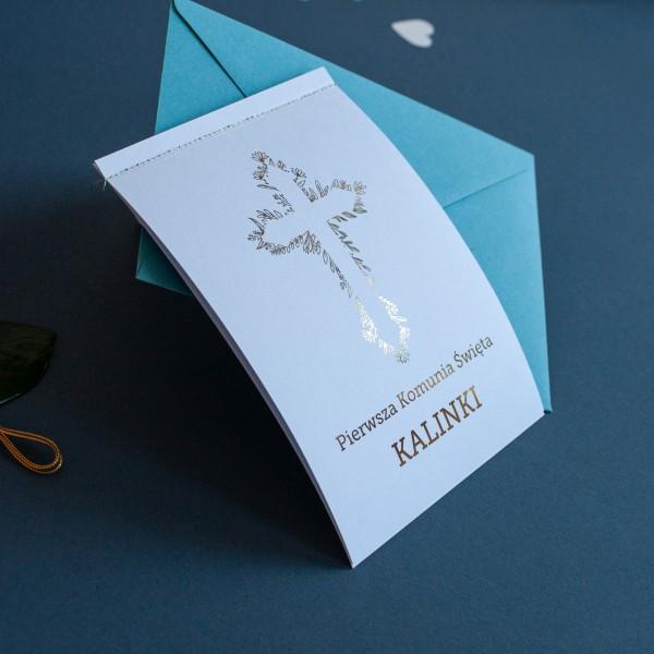 Roślinki - Zaproszenie na Komunię Świętą/Chrzciny