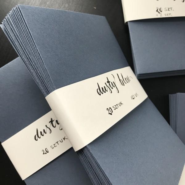 Koperta B6 (13 cm ✕ 18 cm) – kolor Dusty Blue