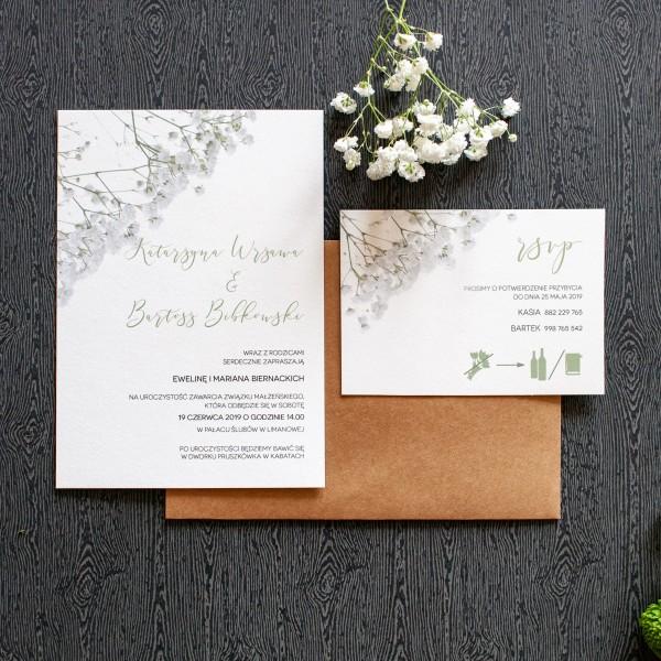 Gypsophila - zaproszenie ślubne