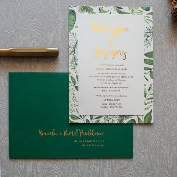 Wild Leaves 2 - zaproszenie ślubne