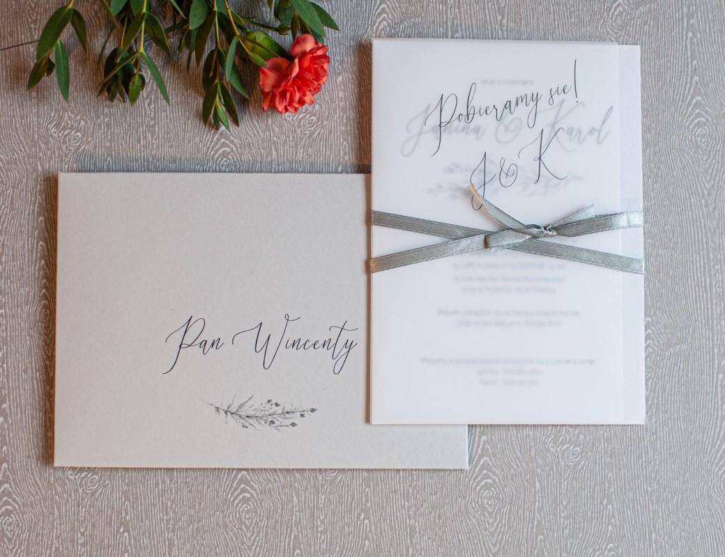 Grey - zaproszenie ślubne