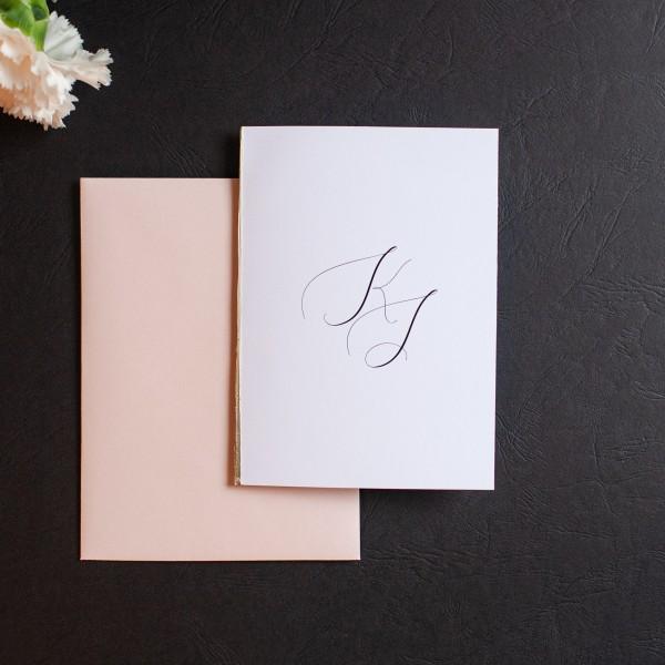 Gold Sign -  zaproszenie ślubne