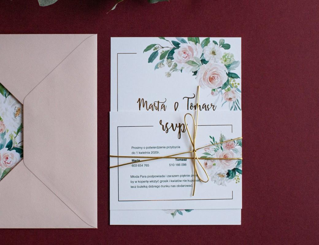 Bright Flowers – zaproszenia ślubne