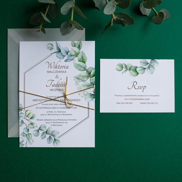 Eucalyptus - zaproszenie ślubne