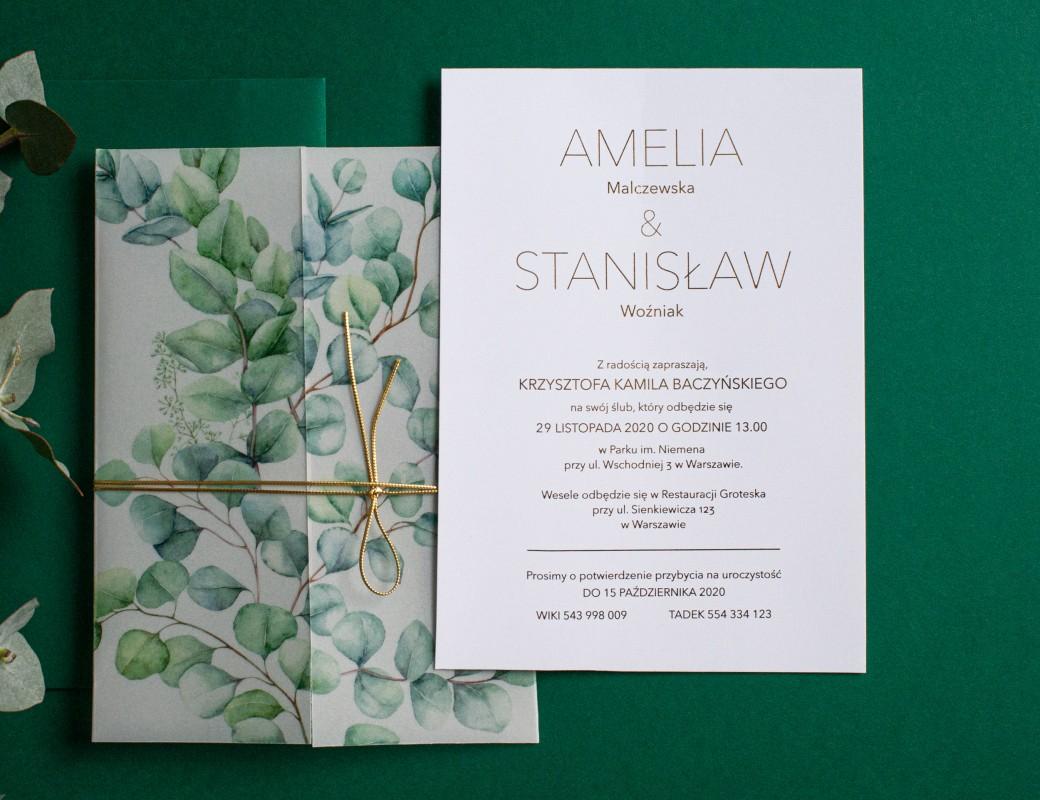 Eucalyptus2 - zaproszenie ślubne