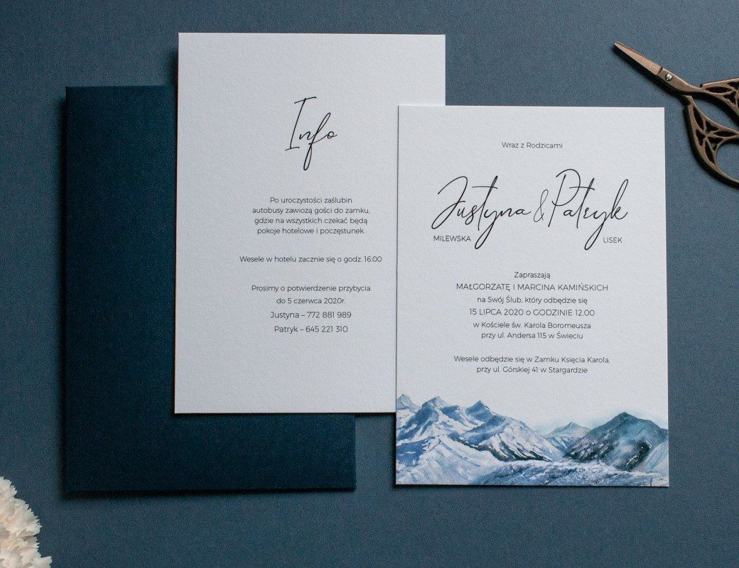 Mountains - zaproszenie ślubne