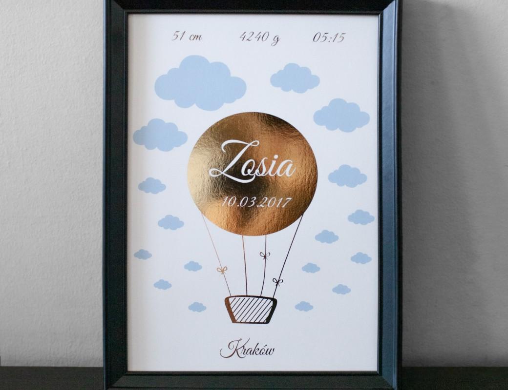 Balon - metryczka na urodziny dziecka
