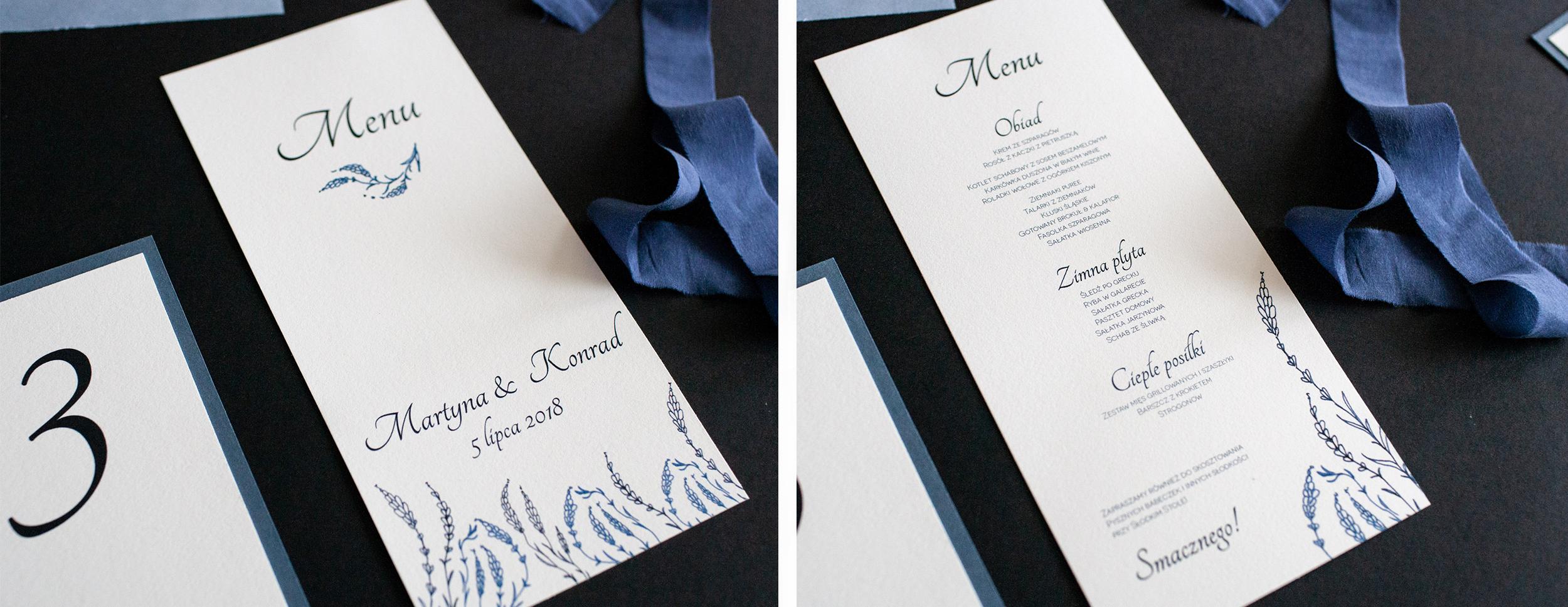 menu, menu dusty blue