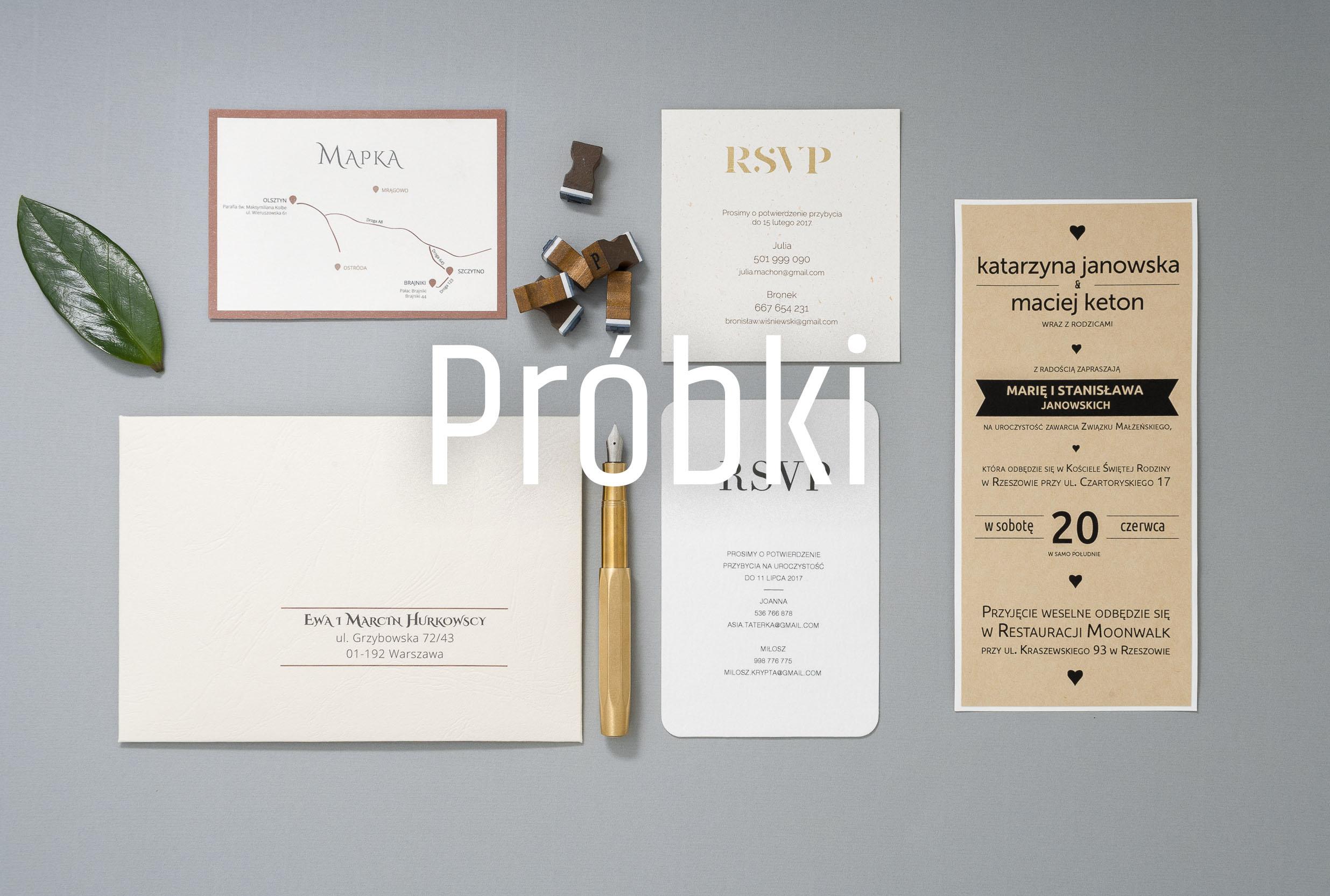 Zaproszenie ślubne  - zamów próbki
