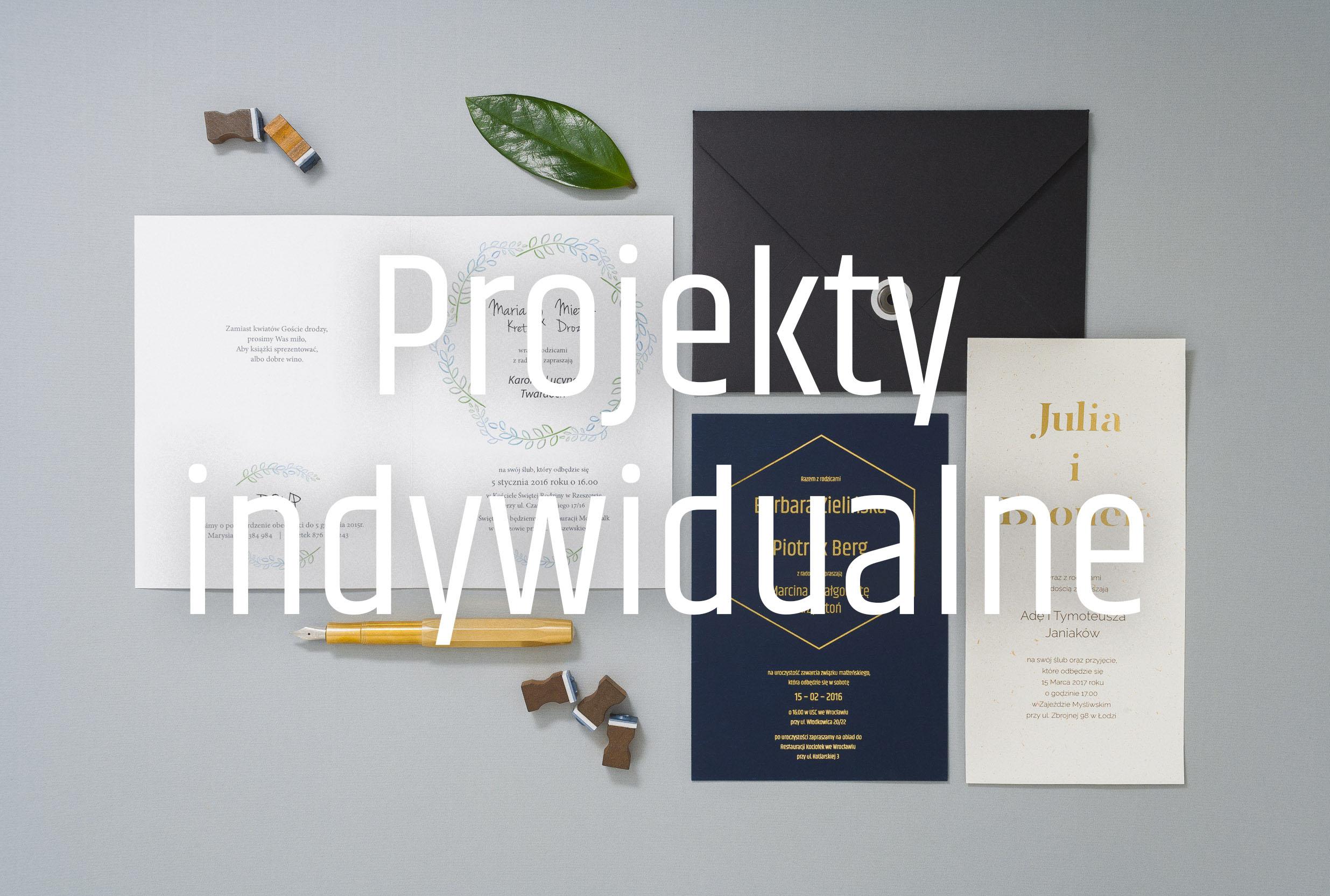 Zaproszenie ślubne - projekty indywidualne